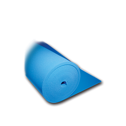 Polyester/Silicon Foam Roll in Blue 130 cm.